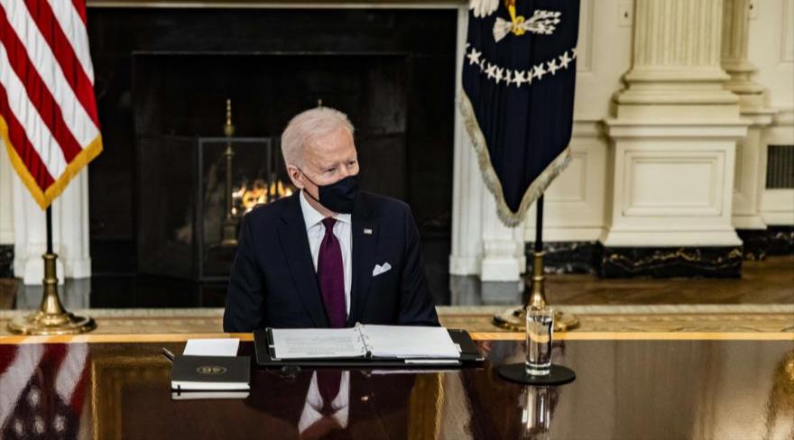El presidente de Estados Unidos, Joe Biden, durante una reunión en Washington, 5 de marzo de 2021. Foto: Radio Habana Cuba