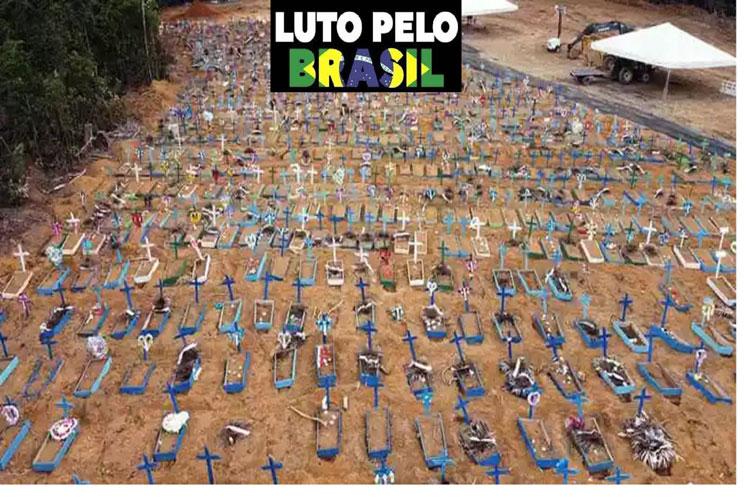 Vaticinan cinco mil muertes diarias por Covid-19 en Brasil.