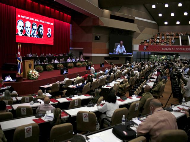 Al Congreso siguen llegando mensajes de apoyo a Cuba y a su partido comunista.