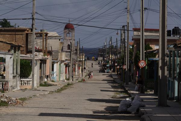 Área residencial de Santa Cruz del Norte , uno de los focos de Covid-19 en esa municipalidad.