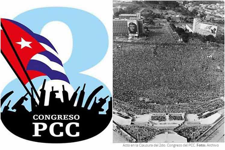 Acto de clausura del segundo congreso del PCC.