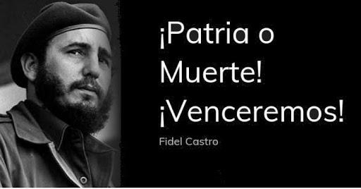 Nuestra consigna ¡Morir  por la Patria es vivir!