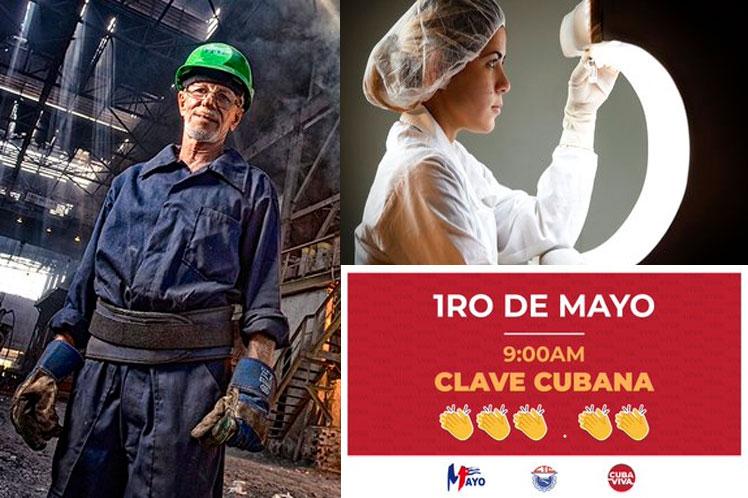 Felicita Díaz-Canel a trabajadores de Cuba