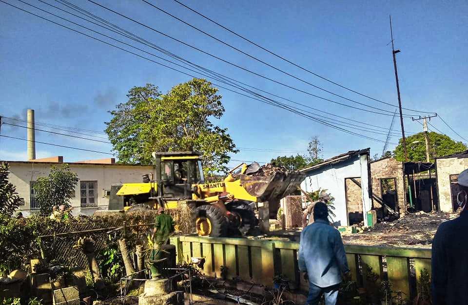 Viviendas afectadas por incendio el pasado 22 de mayo en San Nicolás
