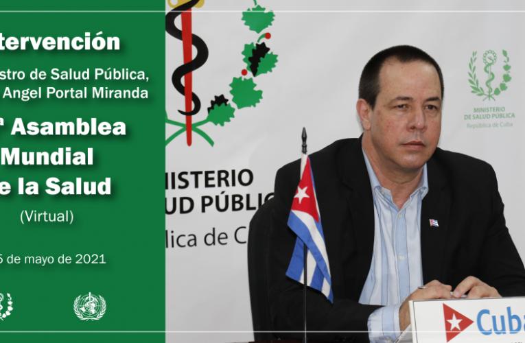 Ministro de Salud Pública de Cuba intervendrá en la Asamblea Mundial de la Salud