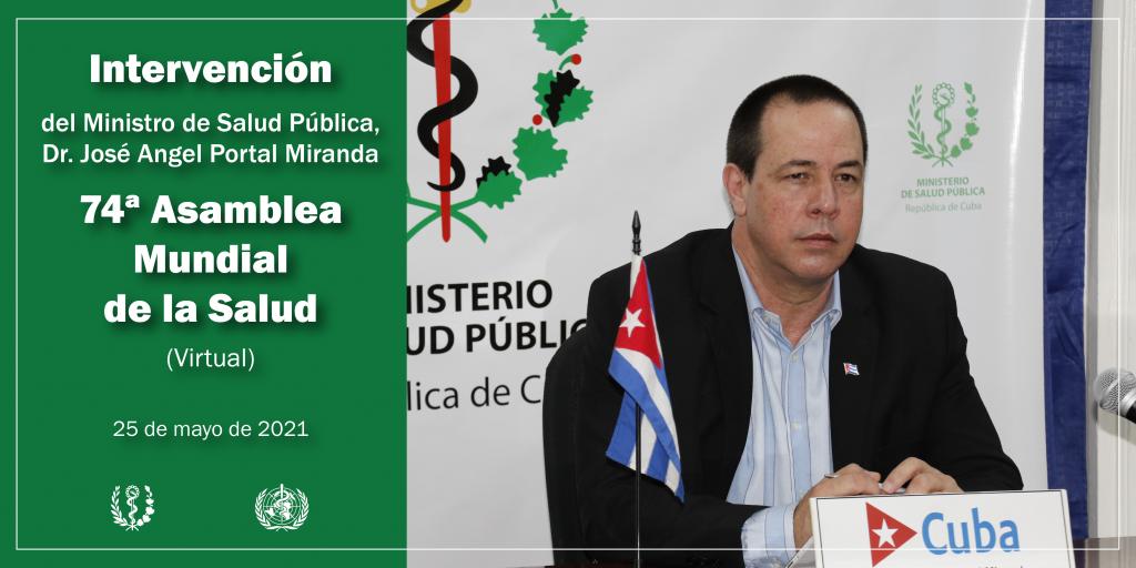 Ministro de Salud Pública de Cuba intervendrá en la Asamblea Mundial de la Salud.
