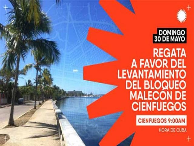 Bahía de Cienfuegos sede de regata de apoyo a las acciones contra el bloqueo a Cuba en el mundo.