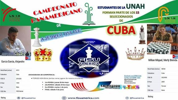 Estudiantes de Universidad de Mayabeque  en Campeonato Panamericano de Ajedrez Online