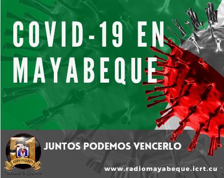 Mayabeque reporta casos positivos a la Covid-19.
