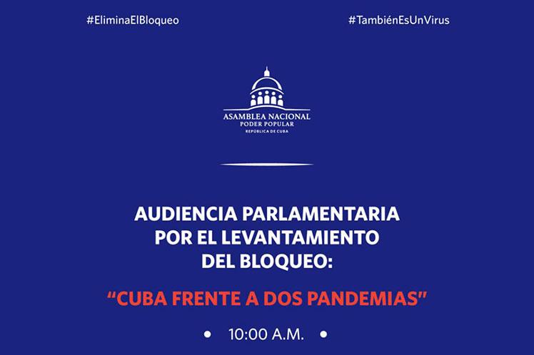 Parlamentarios de Cuba realizarán audiencia contra bloqueo de Estados Unidos.