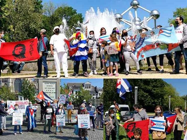 En Belgica rechazan bloqueo contra Cuba.
