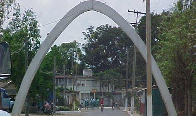 Entrada al municipio San Nicolás de Bari.