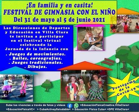Festival Virtual  de Gimnasia con el Niño