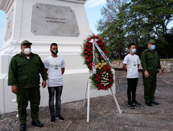 Rindieron homenaje a Martí en Dos Ríos