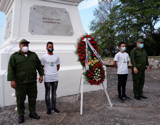 Rindieron homenaje a Martí en Dos Ríos.