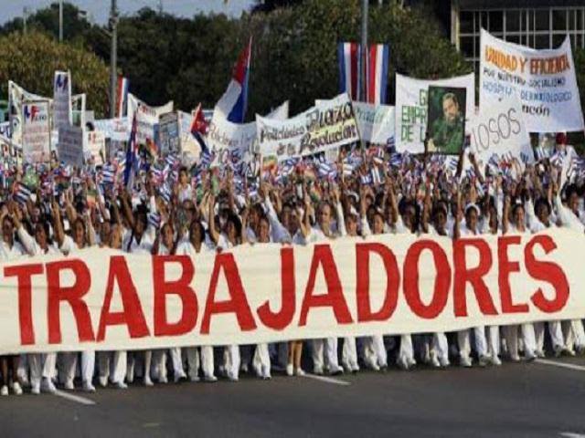 Trabajadores de Melena del Sur demuestran al mundo firmeza del proletariado cubano.