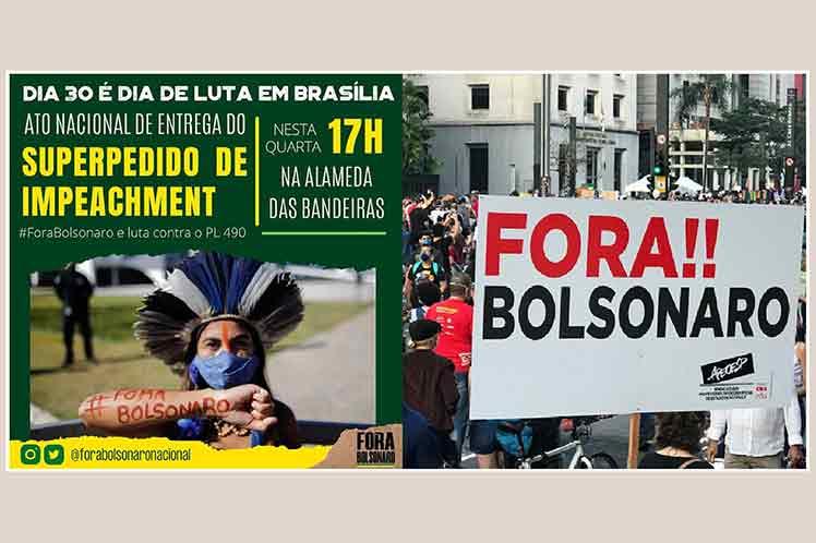 Presentarán en Brasil pedido unificado de destitución de Bolsonaro