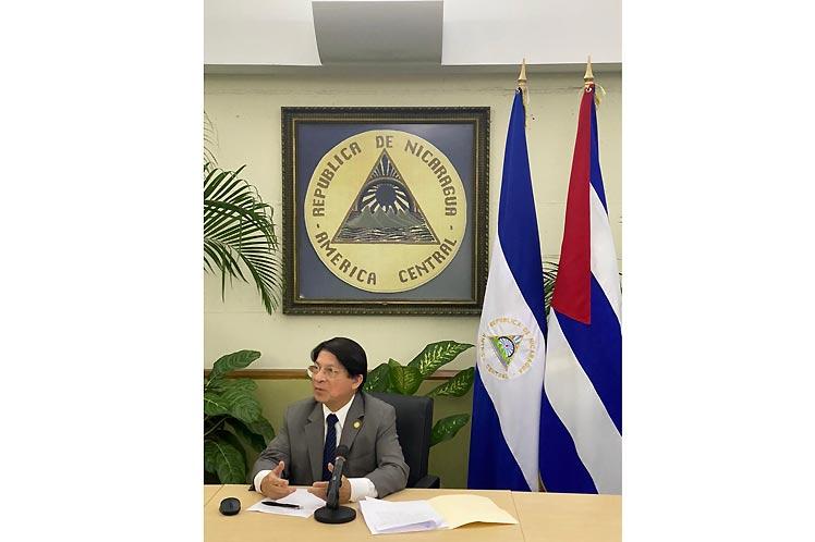 Canciller de Nicaragua expresa apoyo a resolución cubana en Naciones Unidas