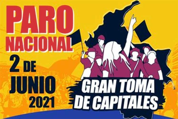 Convocan a gran movilización antigubernamental en Colombia.