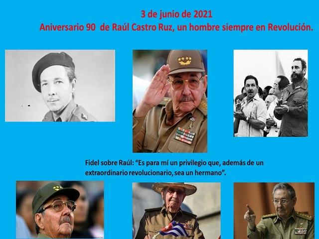 Raúl Castro Ruz en su aniversario 90 (Infografía)