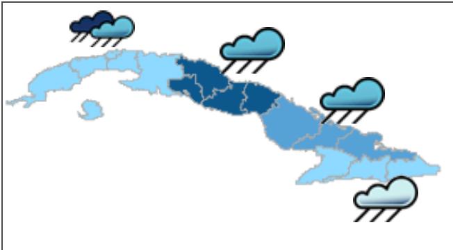 Pronóstico del Tiempo para la tarde y la noche de hoy.