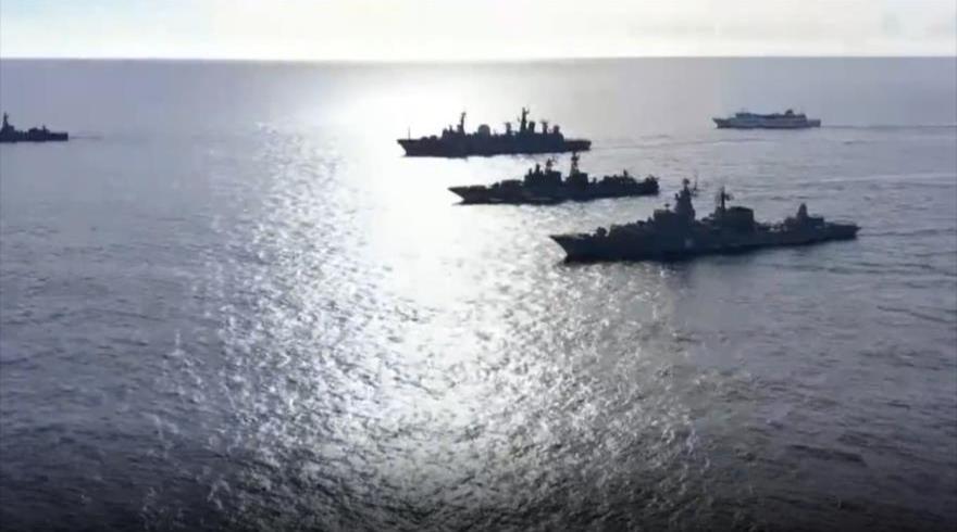 Fragatas rusas en el Pacífico.