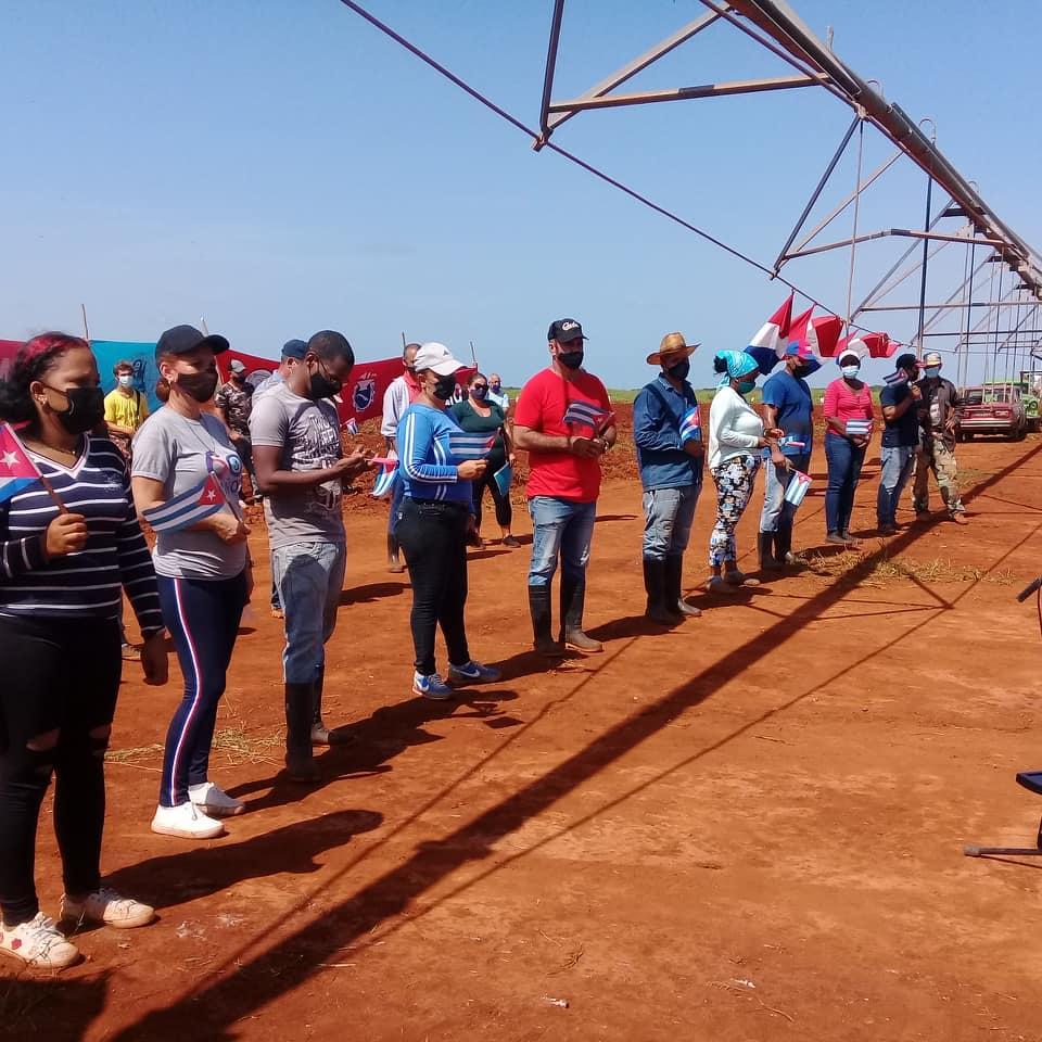 Mayabeque: volunteer work in salute to July 26.