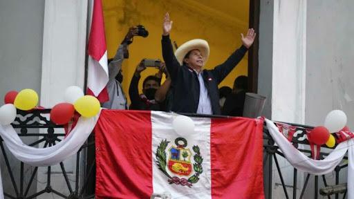 New president of Peru Pedro Castillo.