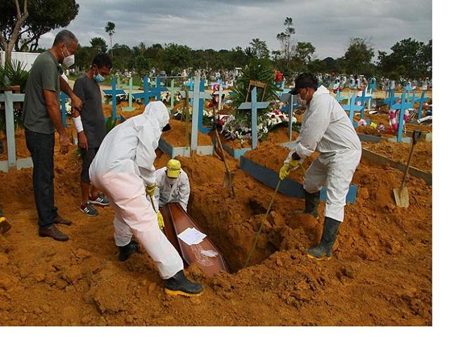 Brasil rebasó umbral de 520 mil vidas perdidas por Covid-19.