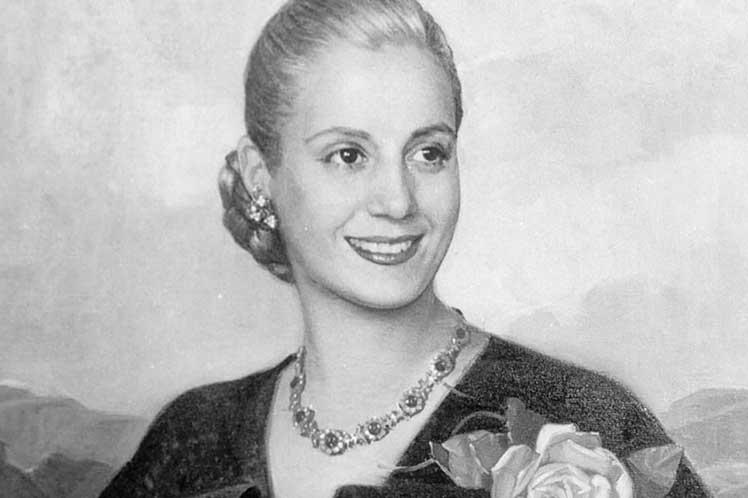 Eva Perón la abanderada de los humildes.