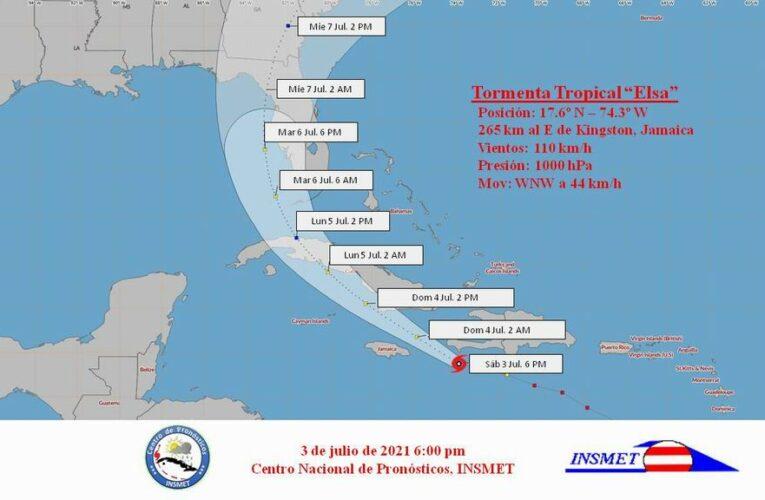 Aviso de Ciclón Tropical No.10: Elsa se mueve con poco cambio al sur de La Española