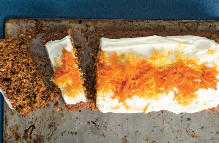 Receta casera de panqué de zanahoria