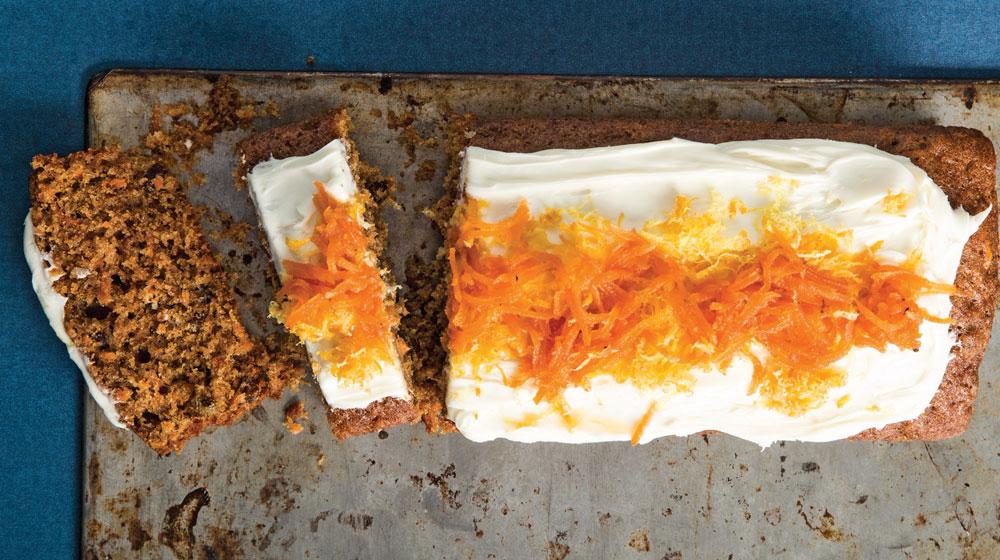 Receta casera de panqué de zanahoria.