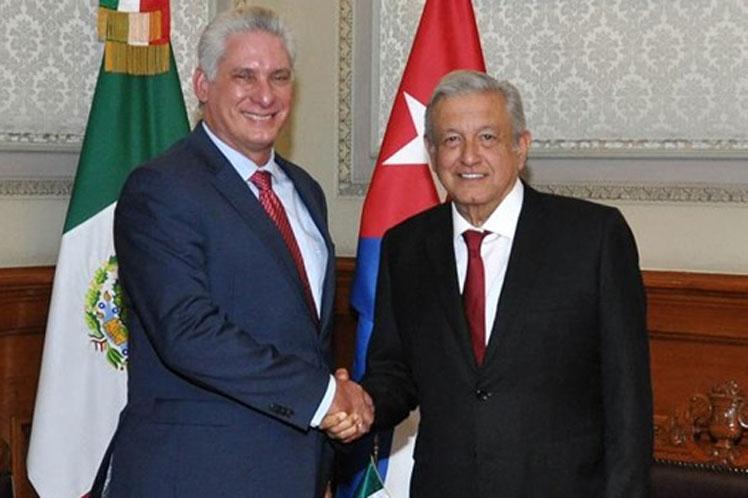 Díaz-Canel agradece reconocimiento de presidente de México a Cuba