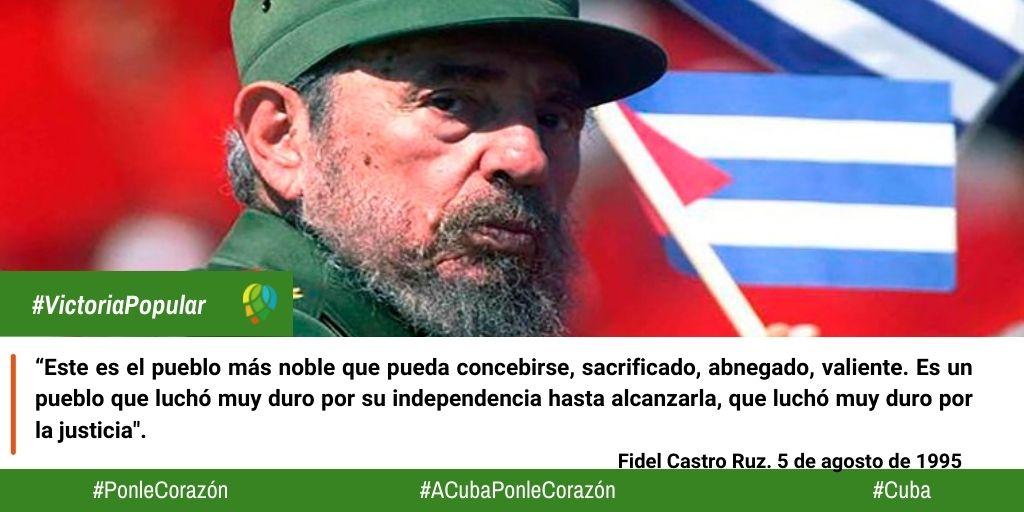 Fidel Castro, paradigma para todos los cubanos.