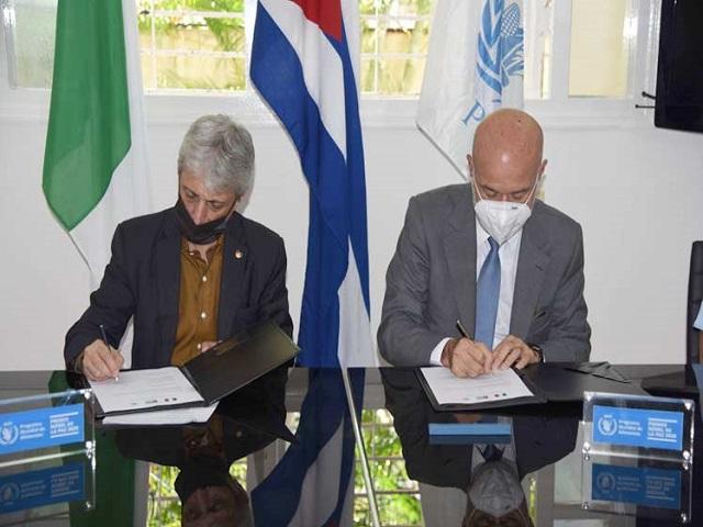 Italia aporta fondos para acciones de asistencia alimentaria en Cuba