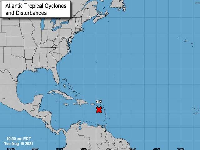 Evento meteorológico con lento movimiento en el Caribe