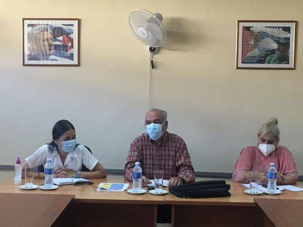 Encuentro entre directivos del Ministerio de Salud Pública y estudiantes de la Facultad de Ciencias Médicas de Mayabeque