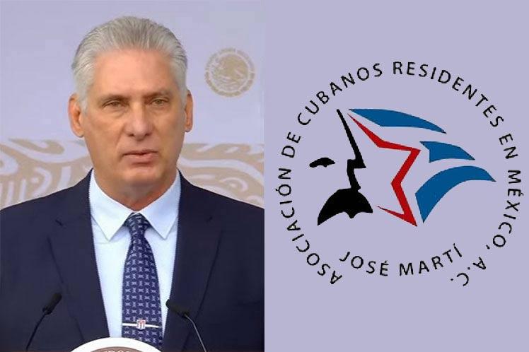 Díaz-Canel se reúne con cubanos residentes en México.