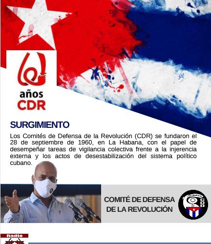 Aniversario 61 de los CDR (Infografía)