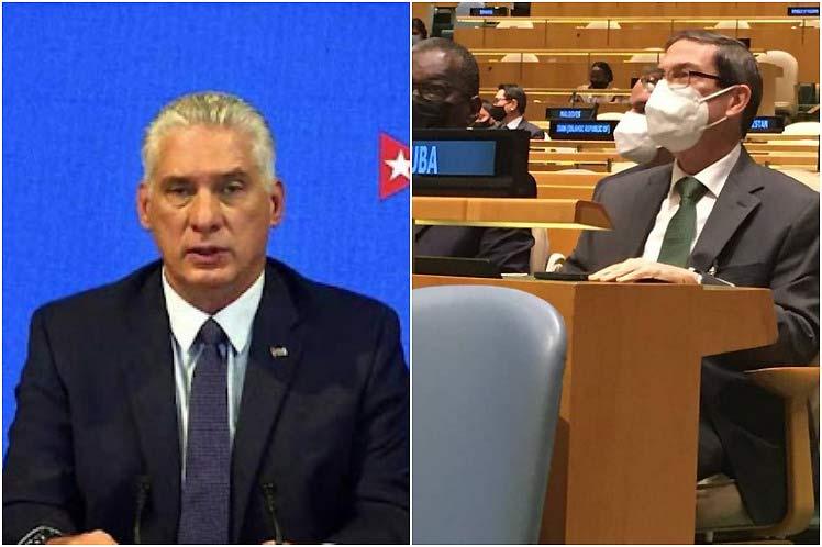 Cuba finaliza intensa semana en Naciones Unidas.
