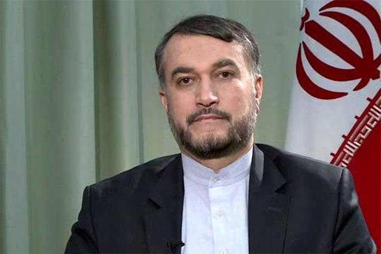 Canciller iraní, Hossein Amir Abdollahian.