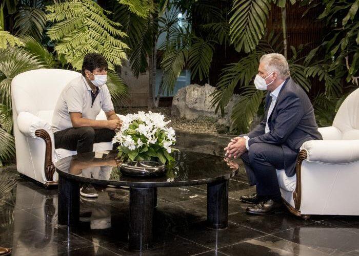 Recibió Díaz-Canel al compañero Evo Morales Ayma