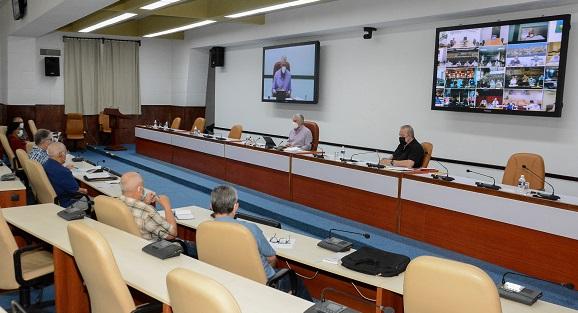 La reunión del Grupo Temporal de Trabajo del Gobierno prestó especial análisis al avance de la campaña de vacunación en Cuba.