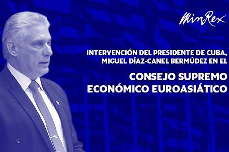 Cuba presente en reunión del Consejo Supremo Económico Euroasiático