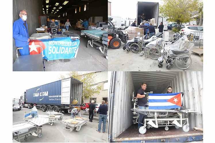 Envían en Francia contenedor con ayuda médica para Cuba