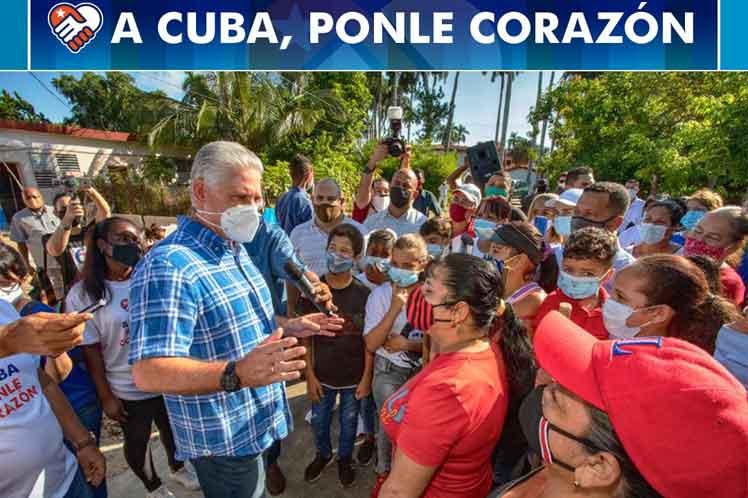 Presidente de Cuba señala transformación en comunidades vulnerables